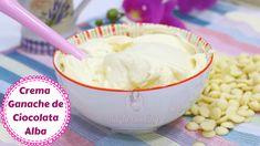 Crema de ciocolată albă (crema ganache ) o folosesc mereu pentru umpluturi , dar si pentru a decora . Sper sa va placă această retetă de crema pentru torturi , prajituri ,brioase si alte dulciuri facute in casa. Creme Caramel, Icing, Cheesecake, Deserts, Ice Cream, Alba, Cooking, Sweet, Ethnic Recipes