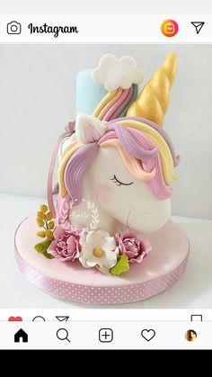 10 Beautiful Unicorn Cake Designs - The Wonder Cottage Unicorne Cake, Cake Art, Cupcake Cakes, Fondant Cakes, Cake Smash, Unicorn Cake Design, Unicorn Cake Topper, Unicorn Themed Cake, Baby Cakes