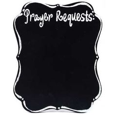 Prayer Requests Easel-Back Ornate Chalkboard - this would be so cute in a kitchen