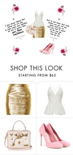 """""""Darling Rose"""" by roseblossom23 ❤ liked on Polyvore featuring Yves Saint Laurent, Dolce&Gabbana, Miu Miu and Gucci"""