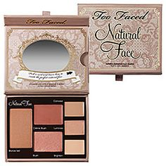 Too Faced  Natural Face Natural Radiance Face Palette #Sephora this stuff is awesome