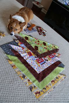 Learn to make Cheap and EASY Dog Bandannas! Great DIY for beginners! - Our Happy Houses