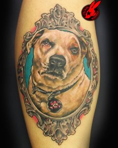 58091eba00260 Dog Portrait Tattoo by Jackie Rabbit by jackierabbit12 on DeviantArt Dog Portrait  Tattoo, Cute Raccoon