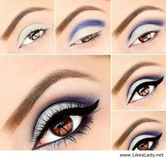 Lilac silver make-up I wish I could do this!!! But I'm not that good with makeup :(