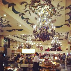 Harrods in London ... stunning place to shop and EAT !!