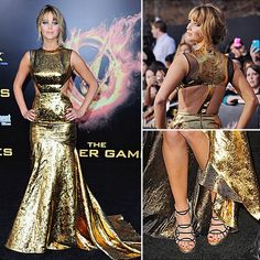 Jennifer Lawrence in Prabal Gurung and Jimmy Choos for the Hunger Games premiere.