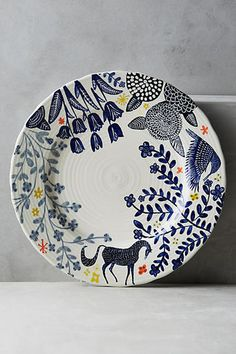 Saga Dinner Plate #blueroofind