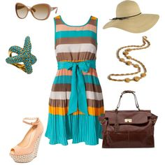 Summer Chic...great outfit for a wedding
