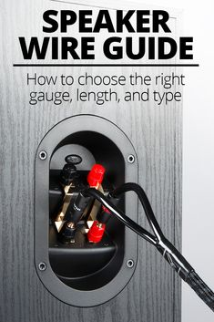 Speaker wire: How to choose the right gauge and type Simple, straightforward guidance on finding the right speaker wire for your speakers. Home Speakers, Home Theater Speakers, Home Theater Projectors, Built In Speakers, Outdoor Speakers, Home Theater Wiring, Diy Electronics, Electronics Projects, Home Theatre