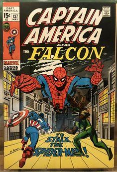 Captain America Comic Books, Marvel Comic Books, Comic Book Heroes, Comic Books Art, Marvel Heroes, Comic Art, Marvel Marvel, Sal Buscema, Comic Book Collection