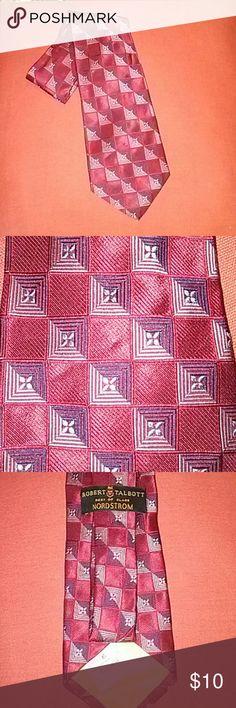 Red Gentlemen Tie Nice tie of red, black,grey colores. Robert Talbott Accessories Ties