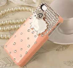 Diamond Sheep Hard Plastic Case for Iphone4 4s - Apple Accessories - Funny Gadgets Free shipping