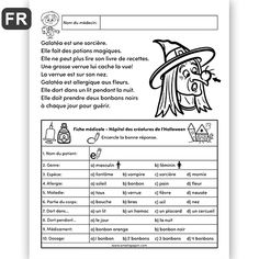 Read In French, Learn French, Learning French For Kids, Teaching French, French Worksheets, Core French, French Classroom, French Lessons, Journal Prompts