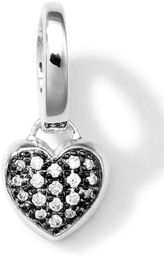 Ippolita Sterling Silver Heart Charm with Diamonds