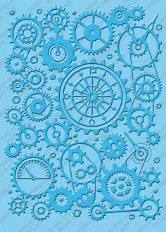 clockworks,Cuttlebug Embossing Folder - Embossing Folders > Cuttlebug by Provo Craft - Cutting Tools X 23, Cuttlebug Embossing Folders, Sewing Crafts, Diy Crafts, Steampunk Clock, Provo Craft, Diy Molding, Online Craft Store, Stamping Up