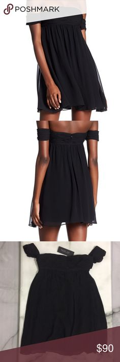 NWT Rachel Zoe Cold Shoulder Silk Dress Sz 4 New with tags Rachel Zoe dress. Dress is a size 4. The dress is made of silk and perfect for a holiday party! Slight snag at the bottom hem on the back of the dress as seen in the last photo. Make me an offer today! Rachel Zoe Dresses Strapless