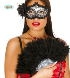 Musta+sulkaviuhka Black Feathers, Halloween Face Makeup, Price Costume, Cabaret, Fan, Products, Feathers, Costumes, Black