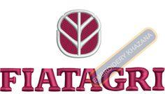 Fiatagri tractor Logo machine embroidery designs
