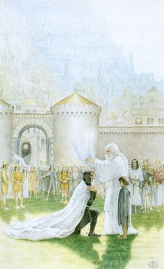 THE CROWNING OF ARAGORN BY INGER EDELFELDT