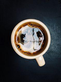 A fresh cup of black coffee