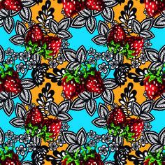 Be Diff - Estampas florais   Morangão by Tassia