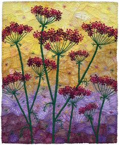 Embroidery designs by hand textile art french knots 25 Ideas French Knot Embroidery, Crewel Embroidery, Hand Embroidery Designs, Machine Embroidery, Japanese Embroidery, Flower Embroidery, Verge, Quilting, Flower Quilts