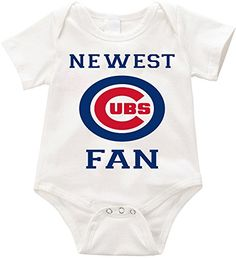 Anicelook Newest Cubs fan infant romper onesie creeper 3 months White *** Read more at the image link. (This is an affiliate link) #ChristmasOnesie