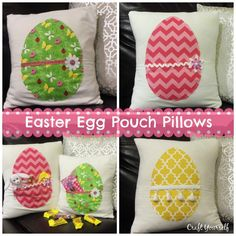 Easter Egg Pouch Pillows Avry Found this darling Bunny pillow idea at Willoday. Only we decided to put a twist on this and do an Easter egg instead. It's such a great idea to make these so you can stuff them full of fun goodies. Plus think of the endless possibilities with fabric selections and …