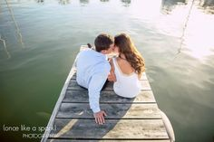 kissing, romantic, couples portrait, waterside, on the dock, engagement photos :: Chris + Genna's Engagement Shoot at North Falmouth – Marina + Old Silver Beach :: with Graham