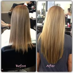 Before and after - Great Length extensions