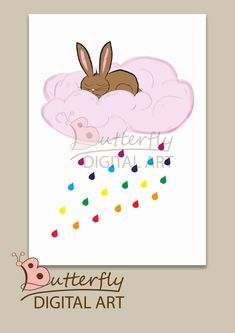 Excited to share the latest addition to my #etsy shop: bunny,rabit, wall art, nursary, woodland decor, poster, download http://etsy.me/2Cpvfxf #art #drawing #blue #babyshower #rainbow #printableart #nurserywallart #instantdownload #poster