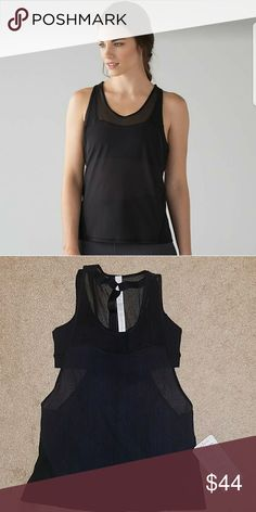 NWT lululemon Light and Breezy tank size 4 NWT... black lululemon Light and Breezy tank. Size 4. Great for working out! lululemon athletica Tops Tank Tops
