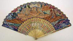 Fan, 18th century, French, ivory,,,,,,,,,,http://www.pinterest.com/pluengolinares/ol%C3%A9-ol%C3%A9-y-ol%C3%A9/
