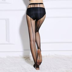 Hot Sale Women's Summer Sexy Ultra Sheer Core-spun Silk Pantyhose Tights Fashional One Line Design Tights Stocking Free Shipping