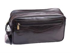 Prime Hide Brown Leather Wash Bag