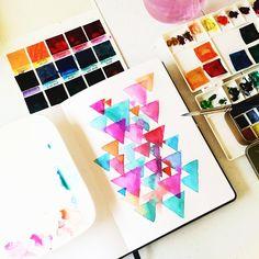 Color study #calligrafikas #watercolor #peerlesswatercolors