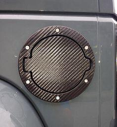 Tuf Skinz Fuel Door Cover & Trim Ring Skin in Real Carbon Fiber for 07-17 Jeep® Wrangler & Wrangler Unlimited JK   Quadratec