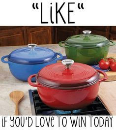 COLORED COOKING POTS W/ TOPS!