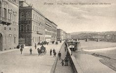maybe 1900: lungarno Vespucci (note that Vespucci Bridge was not there yet)