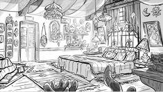 Artes de Rafael Hurtado para o seriado Star Vs. Layout Design, Bg Design, Perspective Drawing Lessons, Perspective Art, Background Drawing, Animation Background, Environment Concept Art, Environment Design, Concept Art Landscape