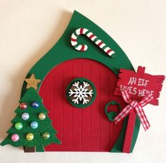 Magical Christmas Elf Door Fairy Door Christmas Decoration | eBay