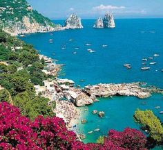 This is Capri, an Island of Italy.  Our daughters middle name is Capri and we will one day come to visit this place!  It's beautiful!!