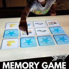 This memory game at the museum was a huge hit! I was so impressed at how well Small Fry did! #TeachingEternity #totschool #TEtotschool