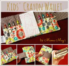 Crayon wallet - might have a go at trying to make one of these - neat idea