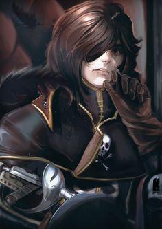 Captain Harlock by Kureiyah (fanart)