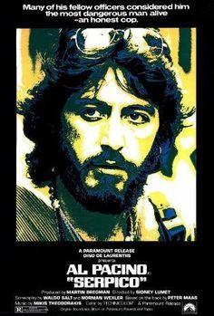 Serpico (1973) Al Pacino, Best Movie Posters, Cinema Posters, Music Posters, Sitges, Hd Movies, Movies Online, Film Movie, 70s Films