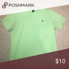 Lime Green Polo Ralph Lauren XL T-shirt Lightly used Polo by Ralph Lauren Shirts Tees - Short Sleeve