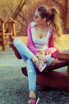 Fall Outfits, Summer Outfits, Casual Outfits, Cute Outfits, Girl Fashion, Fashion Looks, Fashion Outfits, Womens Fashion, Sexy Jeans