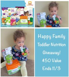 Happy Family Giveaway: Toddler Nutrition Gift Set (Value $50). Ends 11/3/14. Heart of Deborah @happysuperfoods