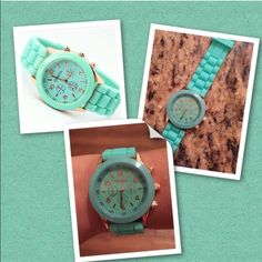 Aqua silicone watch Brand new watch rubber wristband Geneva Accessories Watches